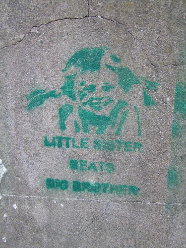 Little Sister beats Big Brother - Leinster Road, Rathmines, Dublin, Ireland