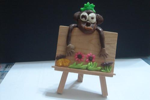 宏翔_紙黏土小猴�