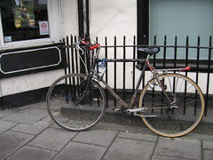 bristol bike outside shop