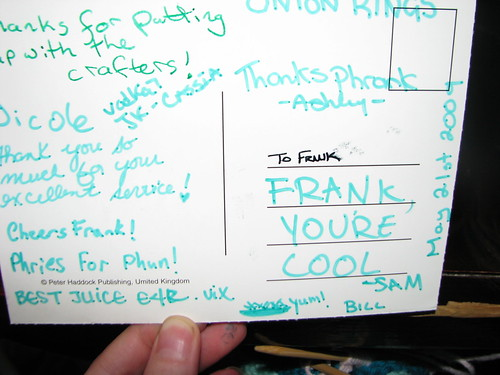Messages for Frank