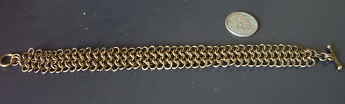 bronze chainmail bracelet