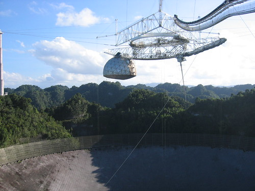 The world's largest radio telescope in The Arecibo Observatory