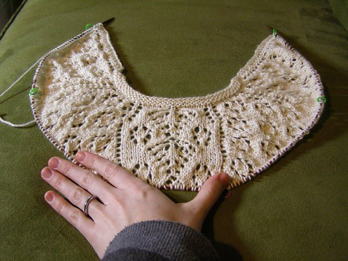 The shawl, it grows