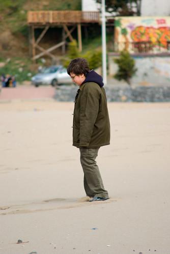 walking on Riva beach, Riva Village in Istanbul, Pentax K10d
