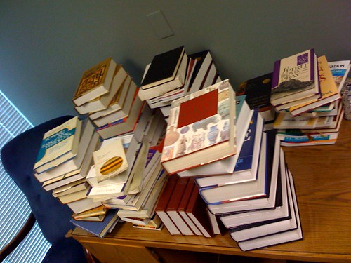 Unorganized stack of Kengo's Books