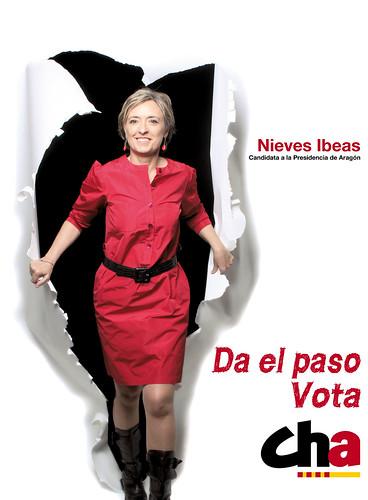 Nieves Ibeas, candidata de CHA a la Presidencia de Aragón. Da el paso, Vota CHA