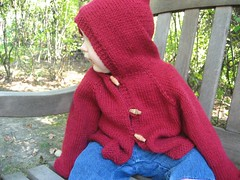 A sweater for Aaron (but modeled by Kailey)