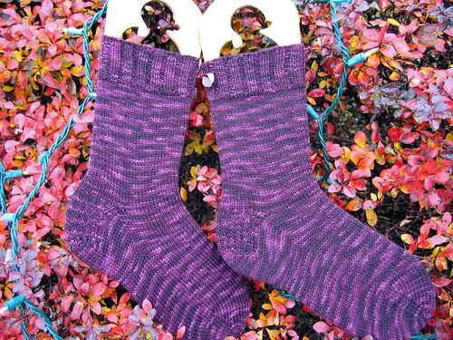 Plum Crazy Socks