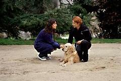 Mujeres con el perro