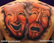 Thespian Masks Tattoo