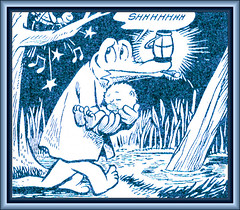 Albert Carrying Pogo - Walt Kelly