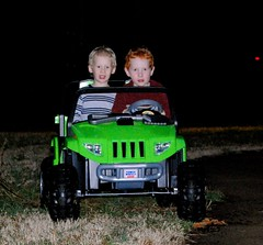 Jake & Joey in Jake's new truck!