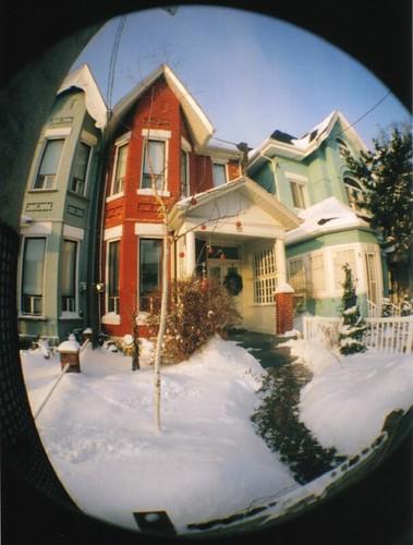 Winter Houses on Dovercourt Road