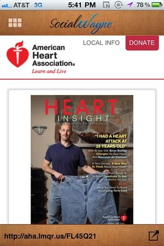 American Heart Association QR Code kroger ad