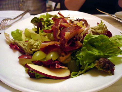 Salad with Goose Ham