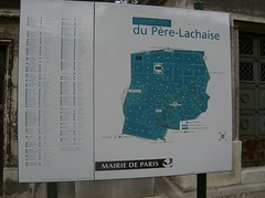 Père Lachaise map