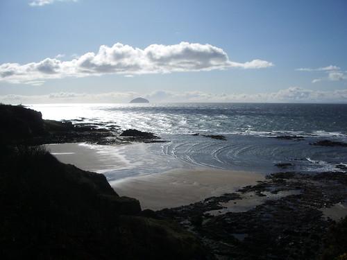 View to Ailsa Craig from Culzean cliff walk