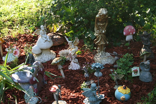 Fairy garden freshy mulched