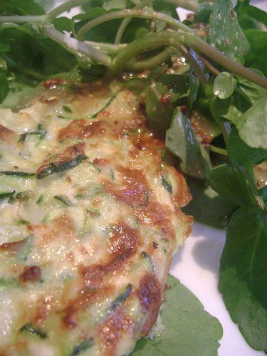 Courgette Frittata with Salad