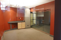 Conference room from hallway (through window)