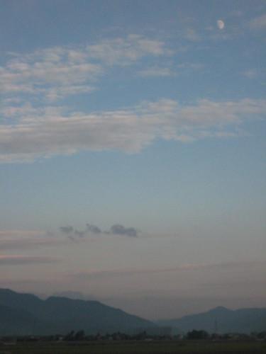 Moon over Fukui