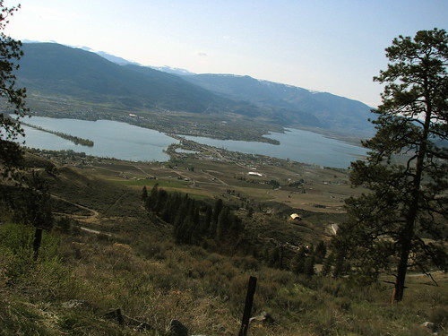 Lake Osoyoos below