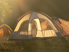 Symms Gap - Tents at Sunset