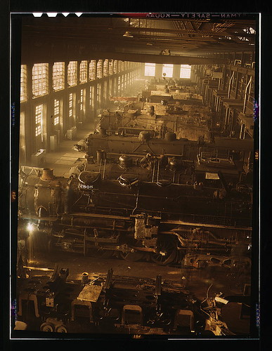 Chicago and Northwestern railroad locomotive shops, Chicago, Ill.