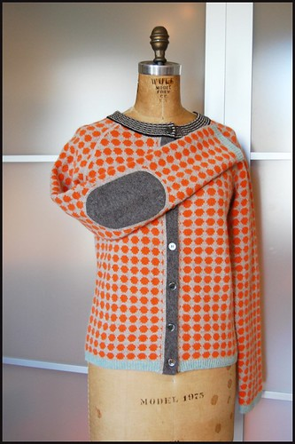 thrifted orla kiely wool sweater