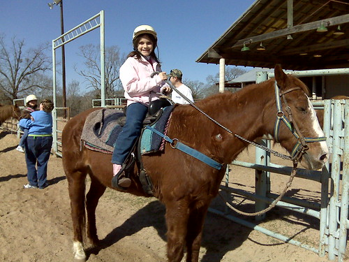 Hannah on horseback