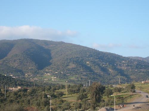 Le village de gheddioua vue depuis selala