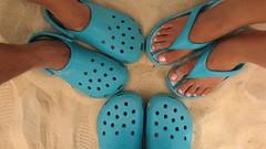 Turquoise Crocs