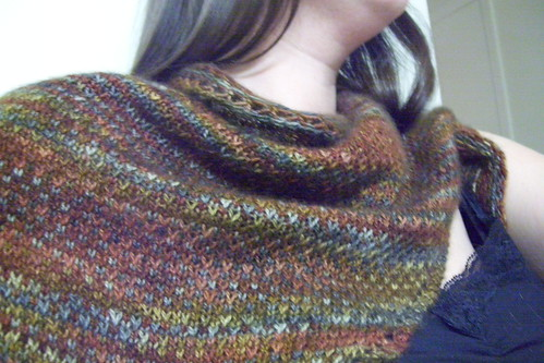 eye of partridge shawl -- stitch texture