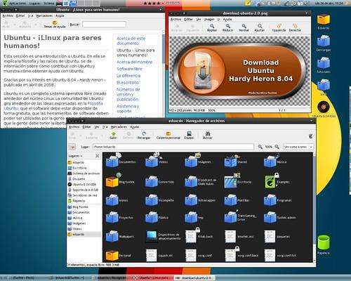 My hardy heron desktop