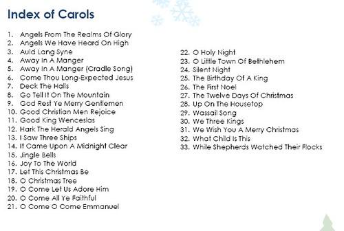 Christmas Carols List Uk Best Wallpaper