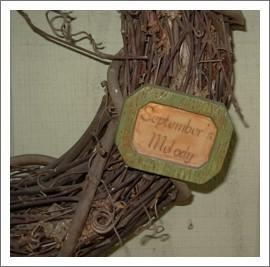 grapevine and plaque