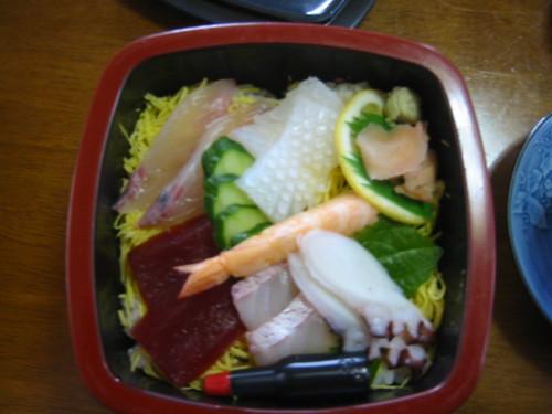 Chirashi-zushi lunchbox