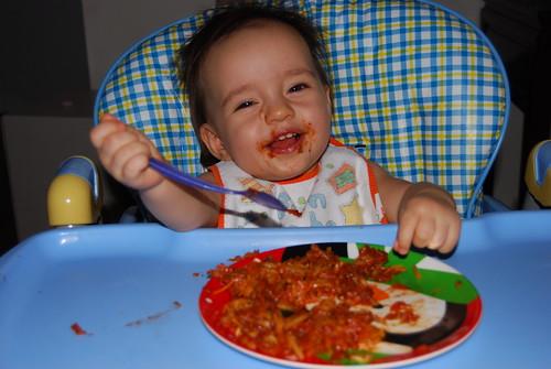 The Girl Loves Her Spaghetti