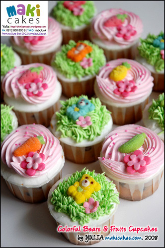 teddy bear cupcakes - maki cakes