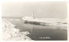 Leelanau Leland Old Breakwall Winter Ice by UpNorth Memories - Don Harrison