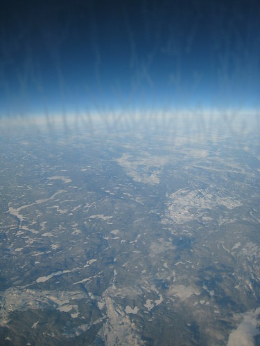 Arriving above Canada