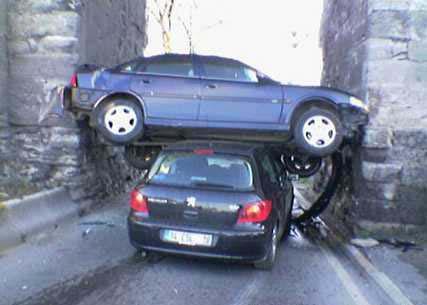 strange car accident odd