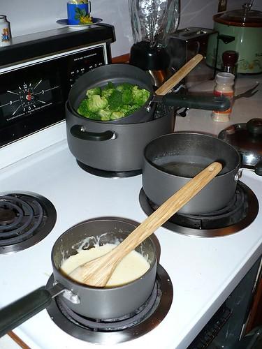 Cheese Sauce and Broccoli