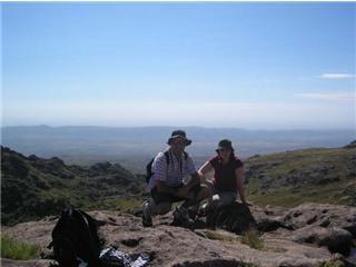 Un arret durant le trekk du canyon des condors. On s'est tapé 20 km...