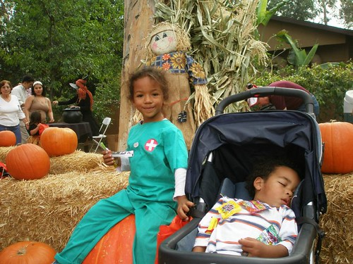 Ilia and Alton at the Pumpkin Patch
