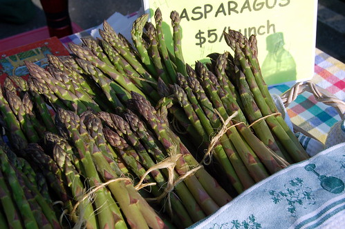 Fresh asparagus at the Staunton Farmer's Market