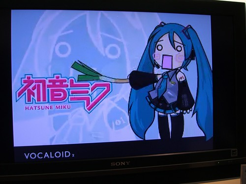 Hatsune Miku on Apple TV (big screen)