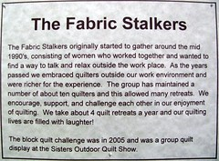 May Gallery Exhibit The Fabric Stalkers @Quiltworks
