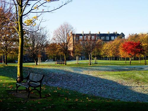 Frosty-autumn-day-Bruntsfield-Links