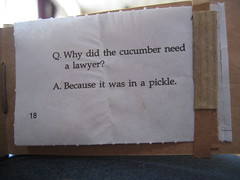 q. why did the cucumber need a lawyer?